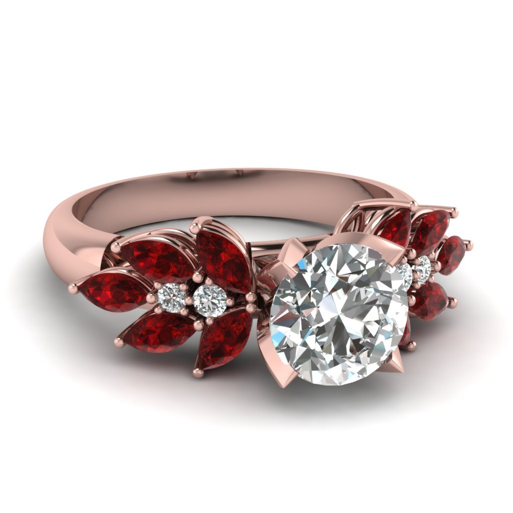 Nature Inspired Ruby Engagement Ring