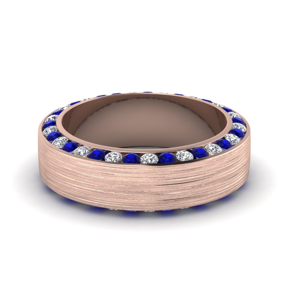 Buy Sapphire Mens Wedding Bands Fascinating Diamonds