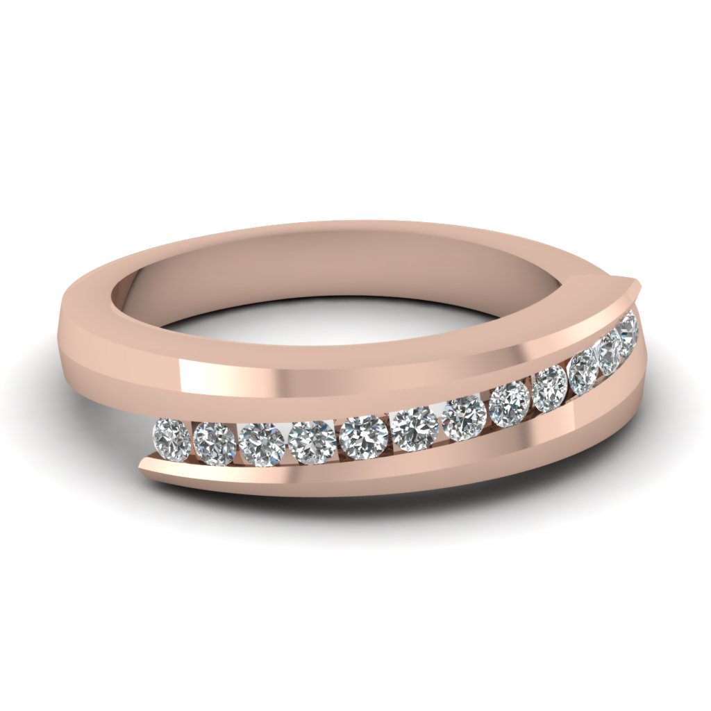 Swirl Channel Wedding Band