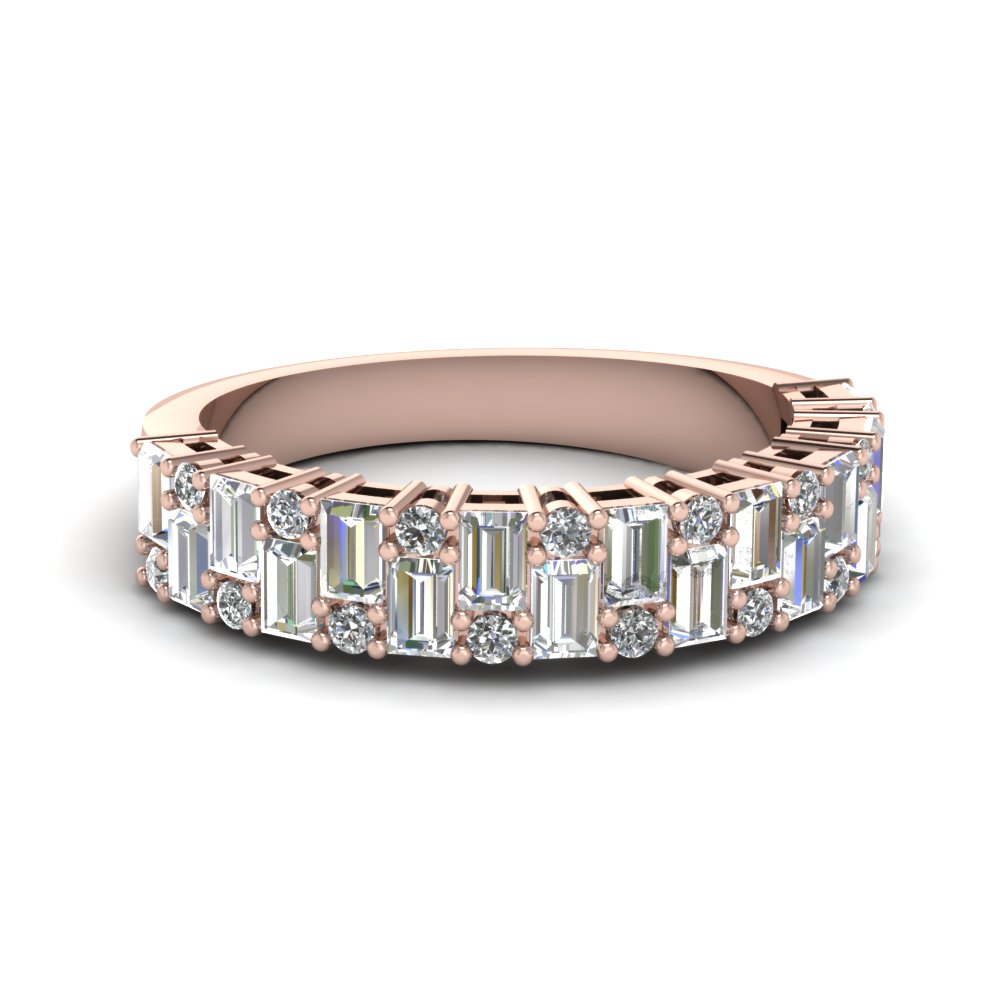 Womens Diamond Gold Wedding Band