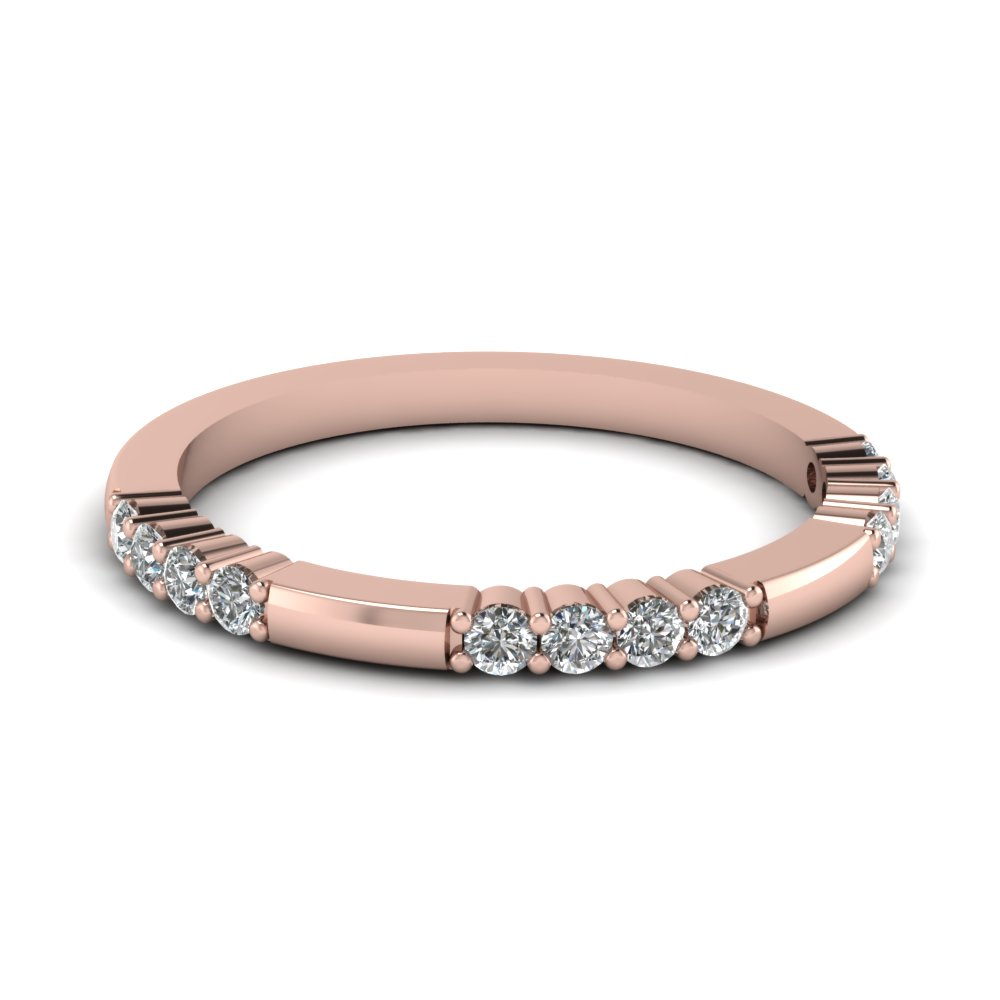 Prong Diamond Wedding Band