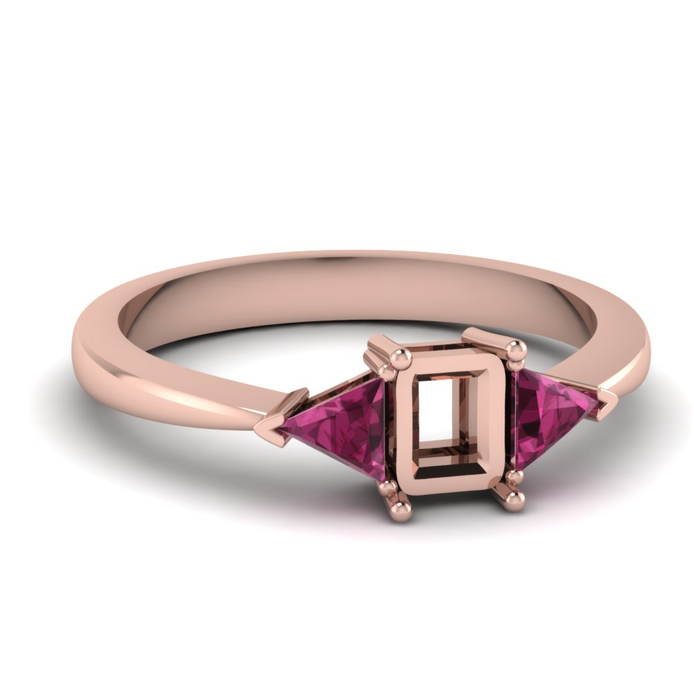 Semi Mount Pink Sapphire Ring