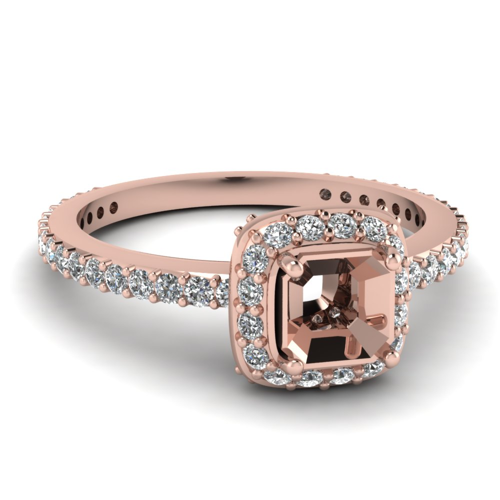 Rose Gold Halo Ring Settings