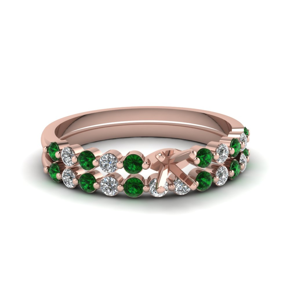 semi mount floating diamond wedding ring set with emerald in FDENS3023SMGEMGR NL RG.jpg