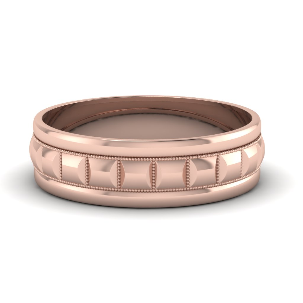 rose-gold-traditional-milgrain-carved-mens-wedding-band-FDM1010B-NL-RG