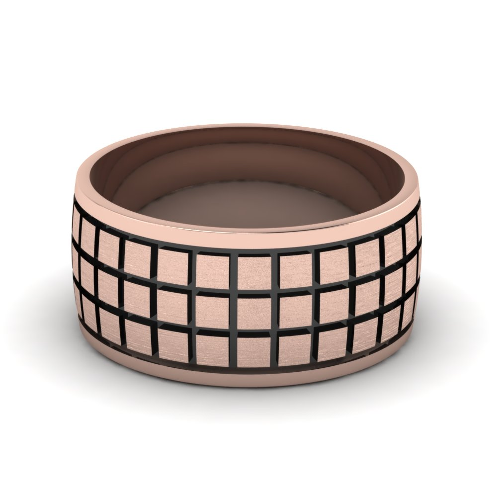 rose-gold-treble-Block-design-mens-wedding-band-FDM957B-NL-RG