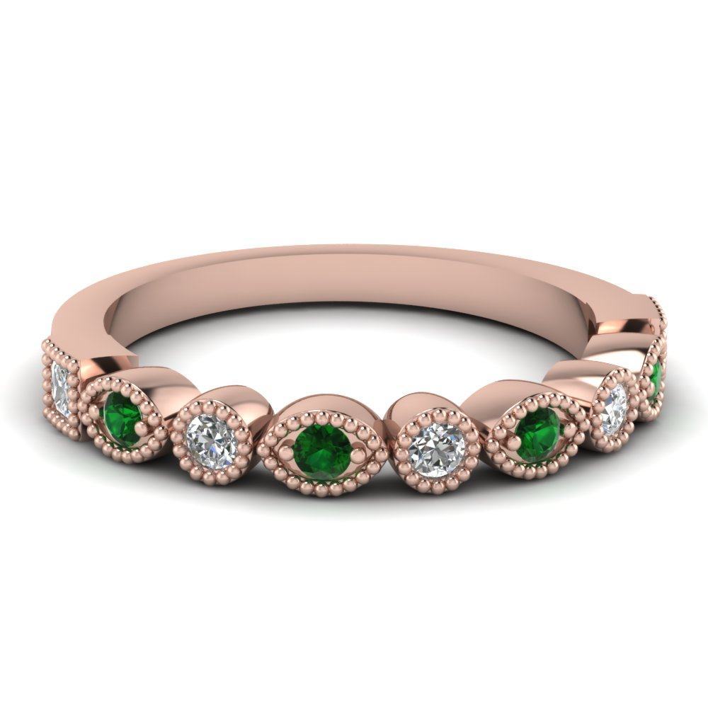 Antique Emerald Womens Band