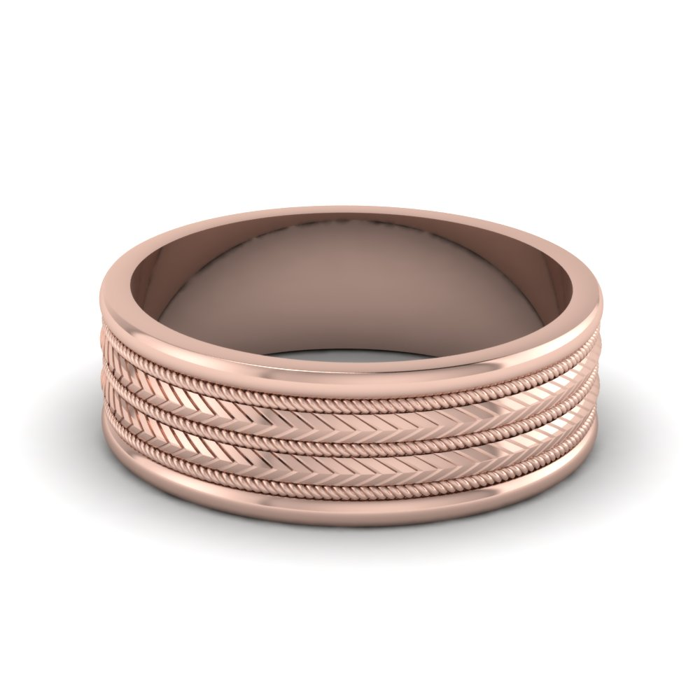 rose-gold-zippered-design-mens-wedding-band-FDHM166B-NL-RG