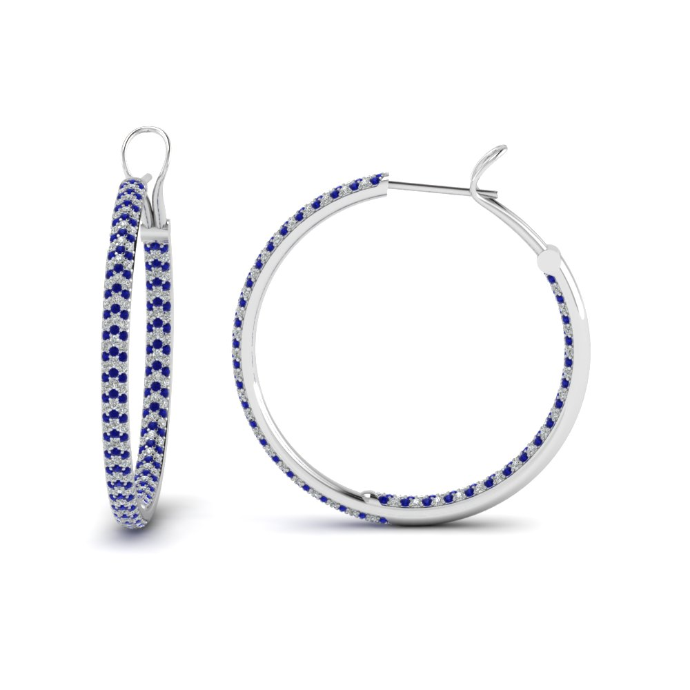 Micro Pave Diamond Hoop Earrings