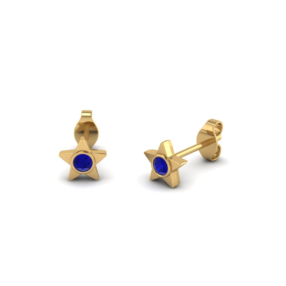 round-cut-blue-sapphire-stud-earrings-in-14K-yellow-gold-FDEAR21514GSABL-NL-YG