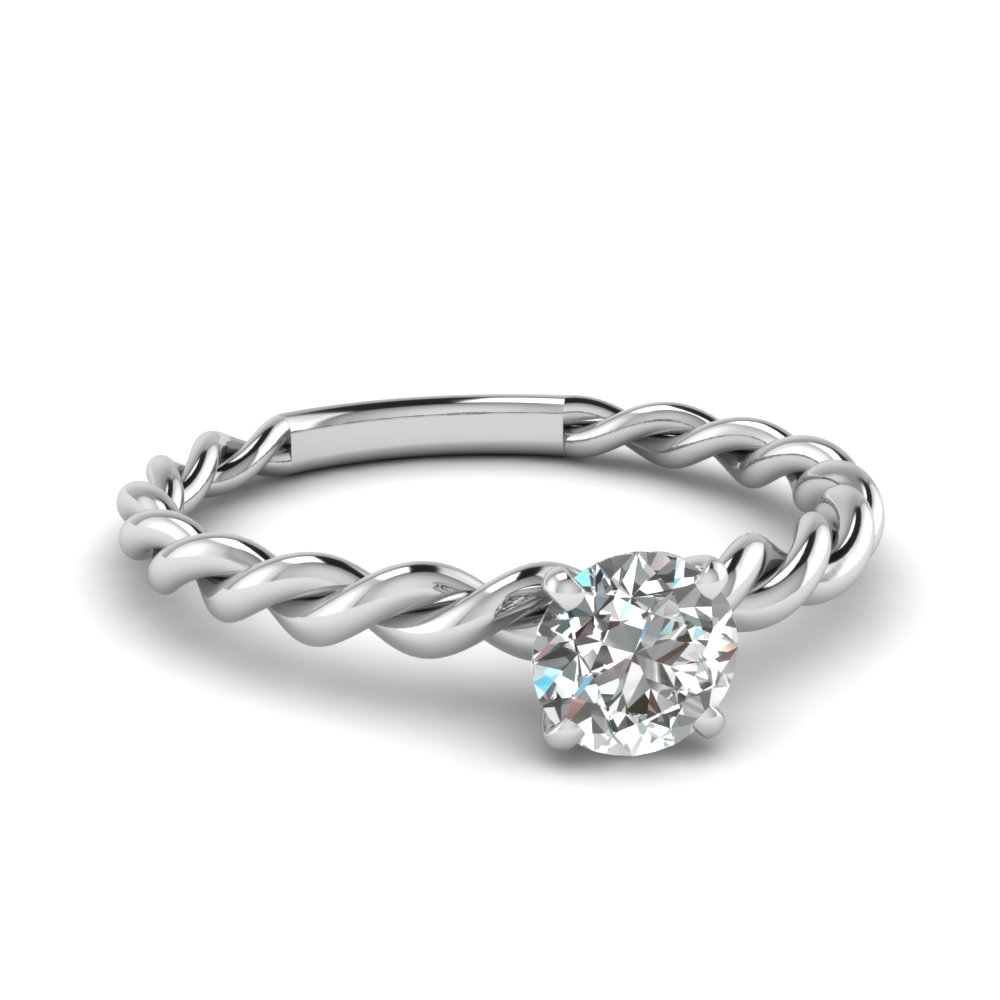 0.30 ct. diamond round twisted ring in FD1087ROR NL WG