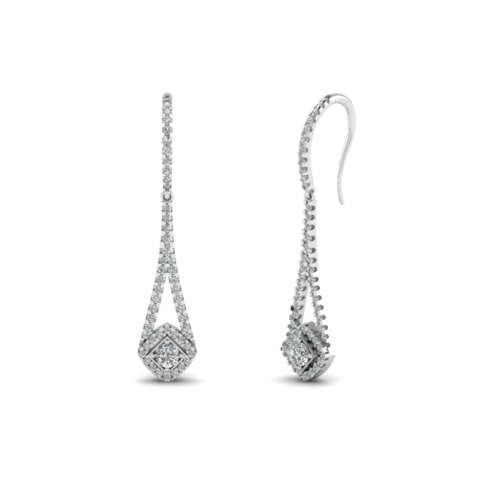 diamond drop dangle earring in FDEAR67101 NL WG
