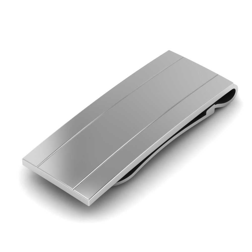 stainless-steel-ridged-money-clip-FDMC808-NL-WG