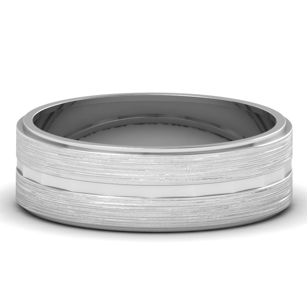 Mens White Gold Wedding Bands
