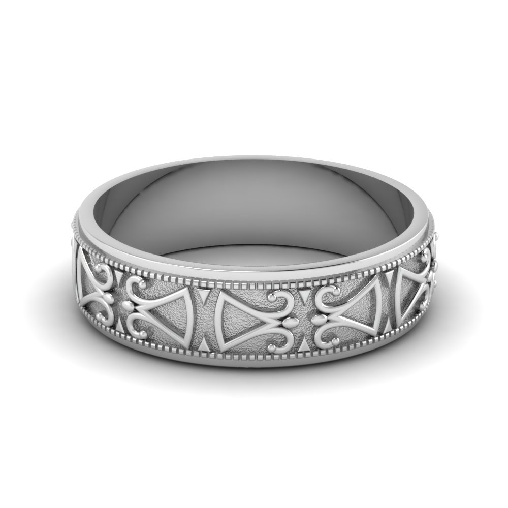 Antique Design Wedding Band