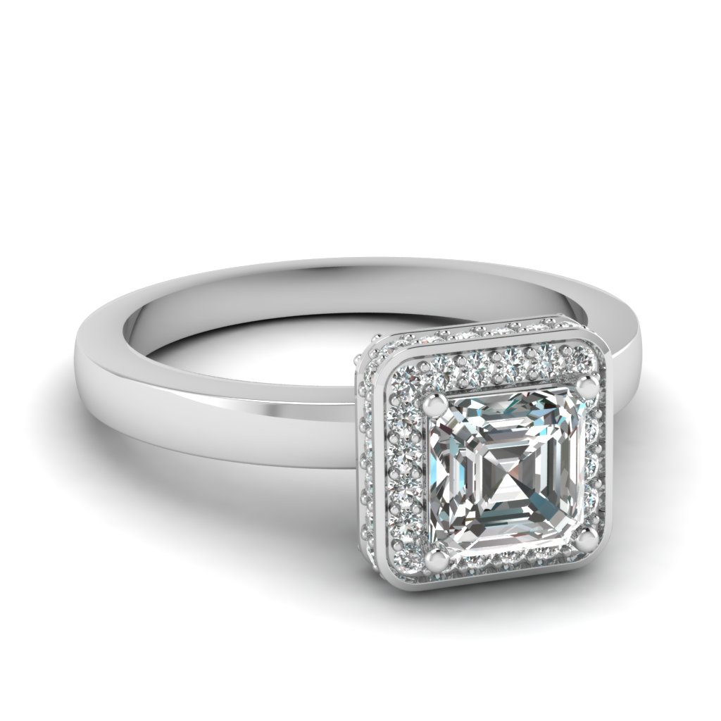 Engagement Rings 0.75 Ct. Asscher Cut