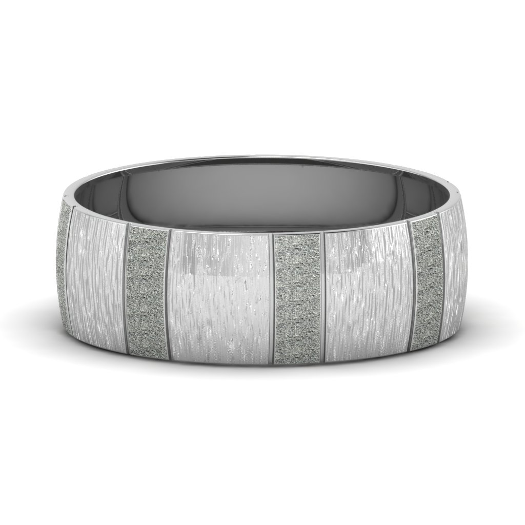 white-gold-carved-cross-satin-finish-mens-wedding-band-FDM1153B-NL-WG