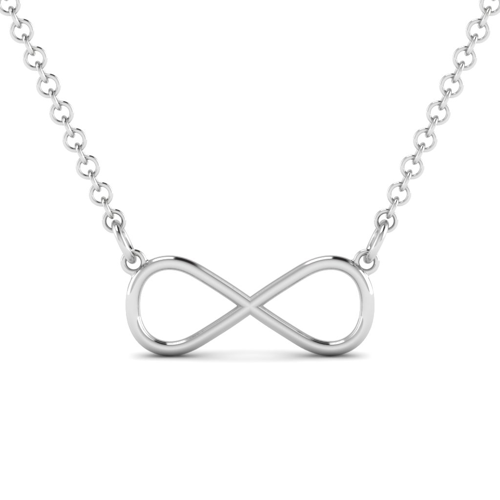 silver infinity pendant necklace
