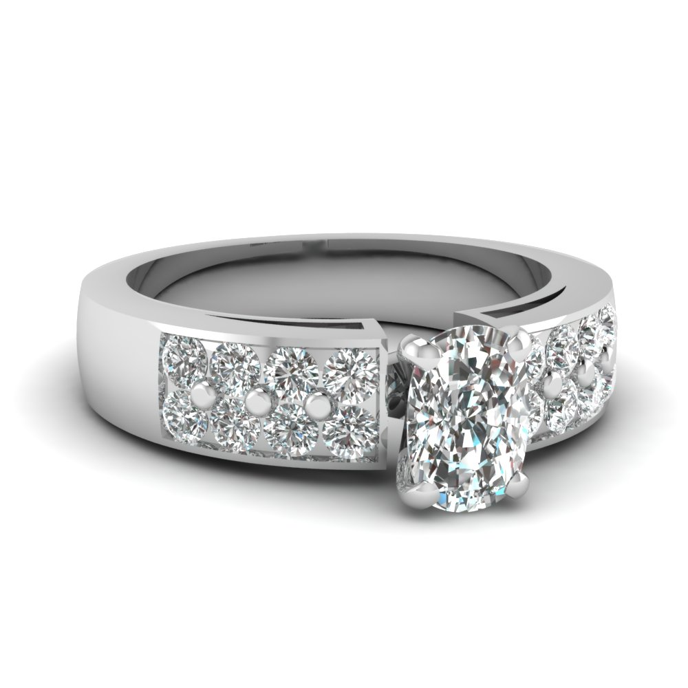 Certified Cushion Cut Diamond Ring