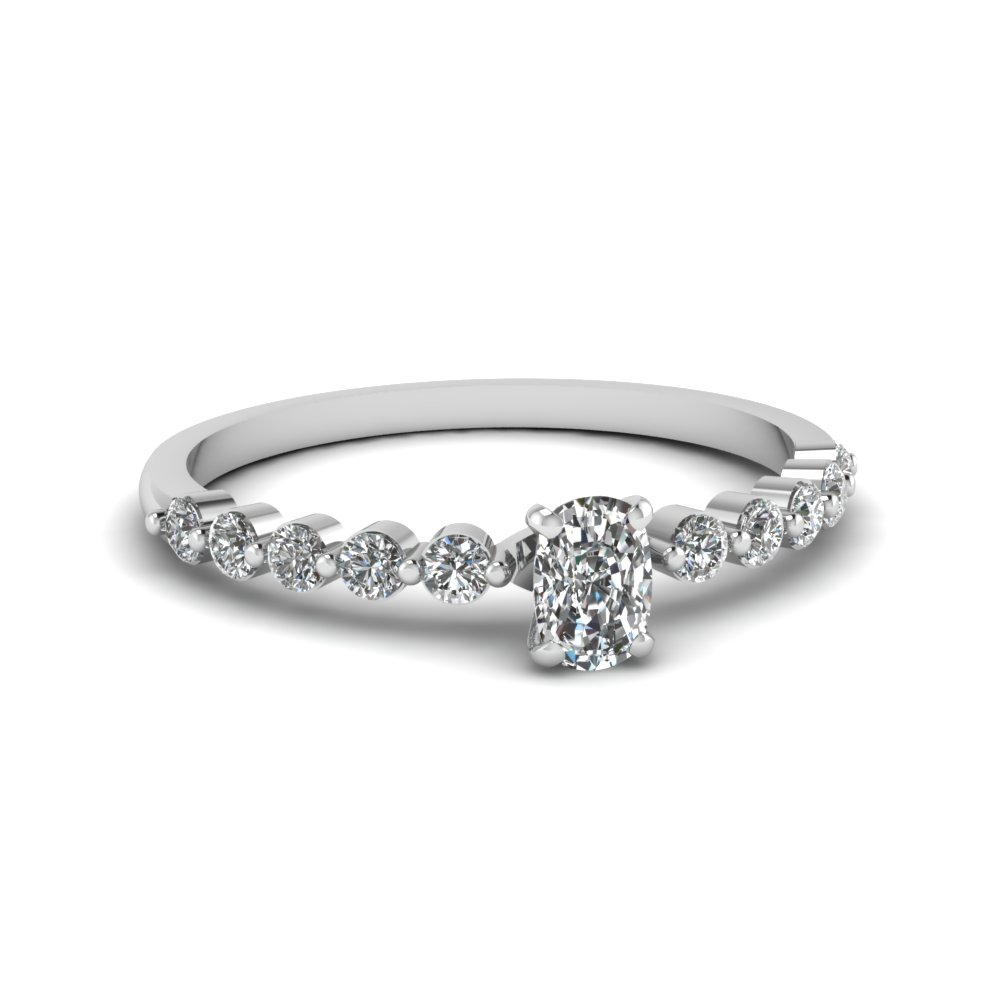 2 Prong Diamond Petite Ring