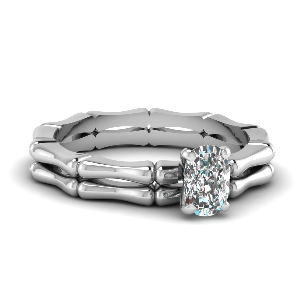 bone design cushion diamond solitaire wedding set in FDENS1823CU NL WG.jpg