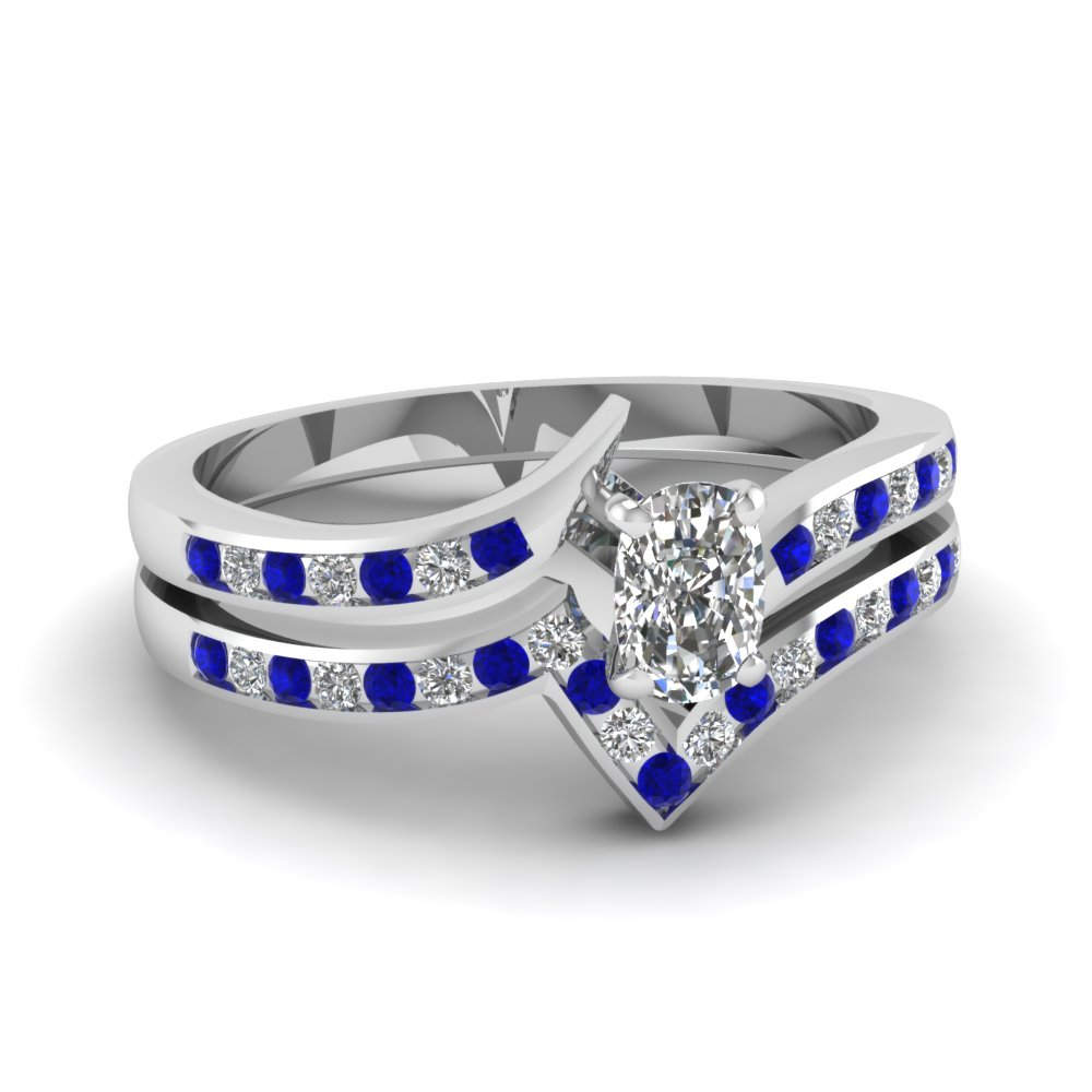 Channel Set Sapphire Ring Set