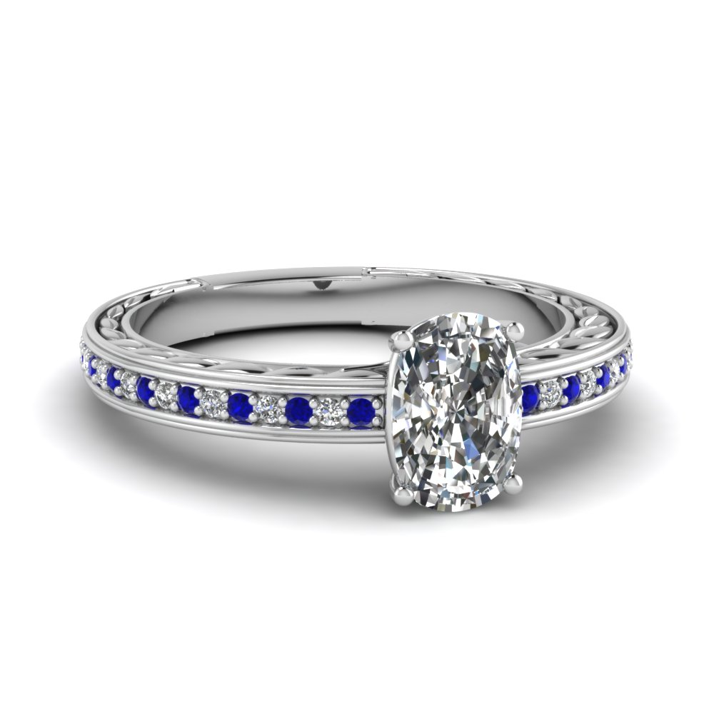 Low Set Vintage Profile Sapphire Ring