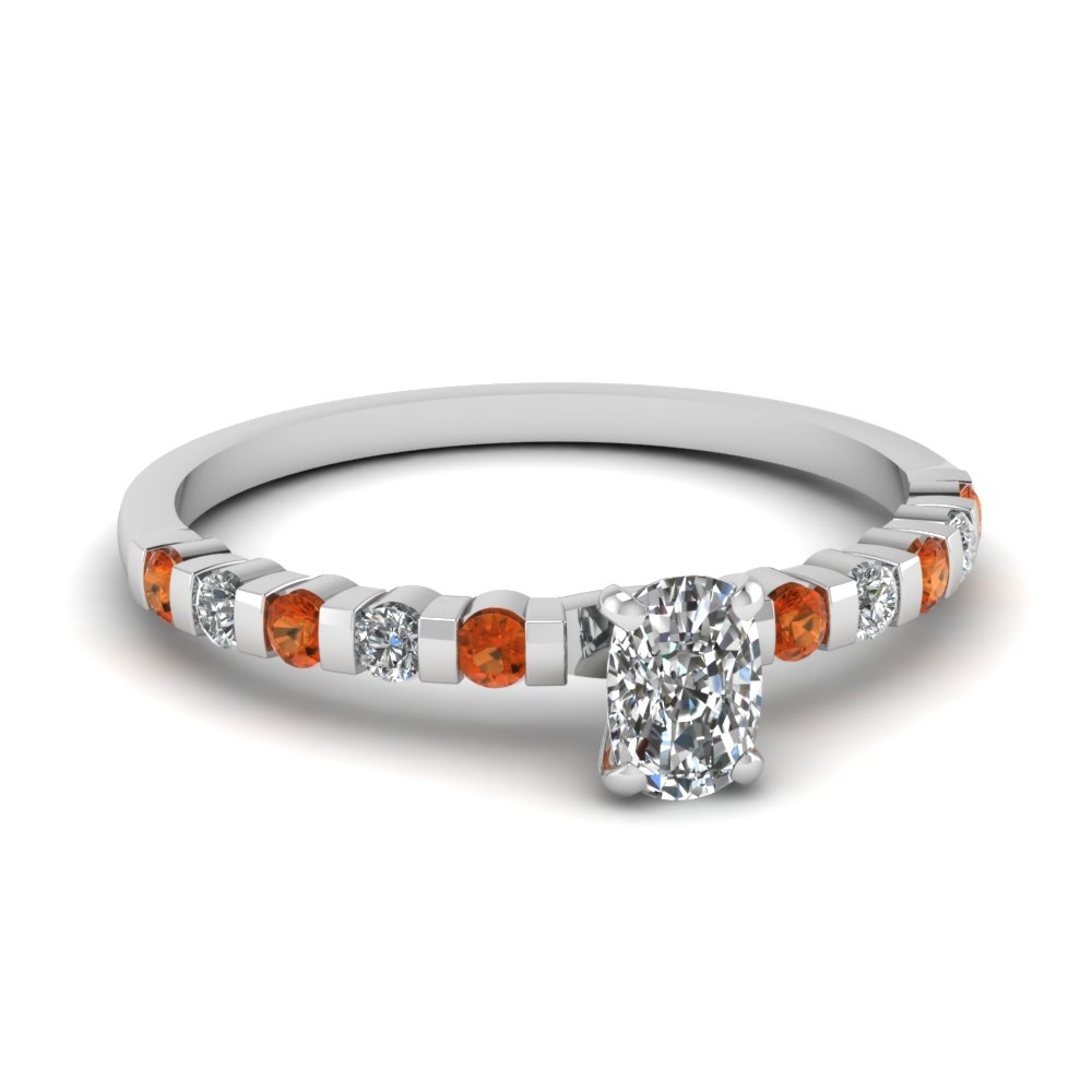 Affordable Cushion Cut Diamond Gemstone Engagement Ring