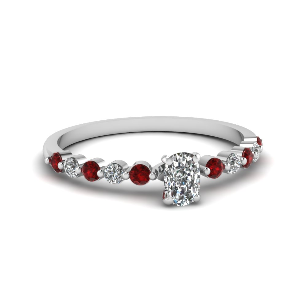 Ruby Petite Floating Diamond Ring