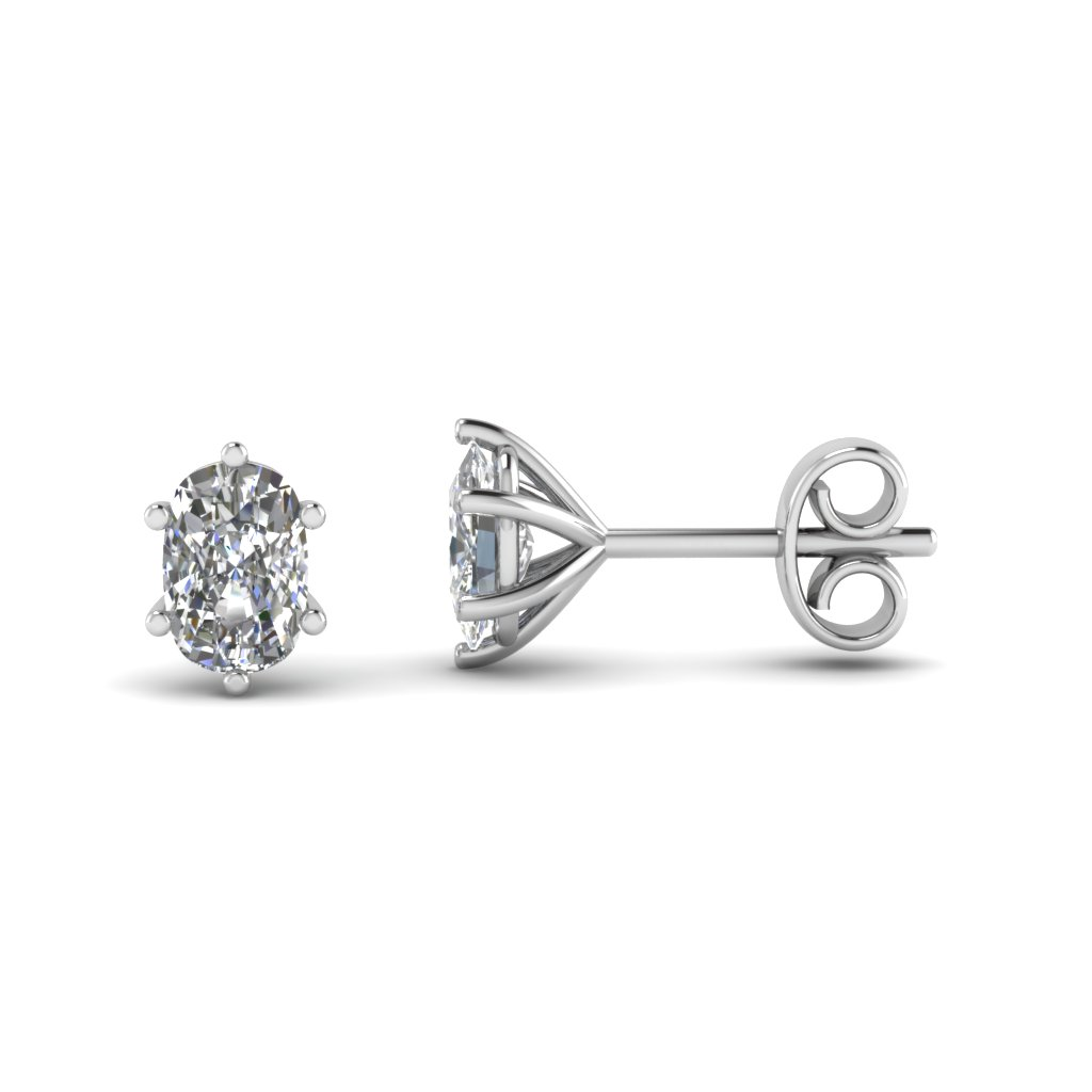 round shaped diamond jewellery stud white gold earrings pear image