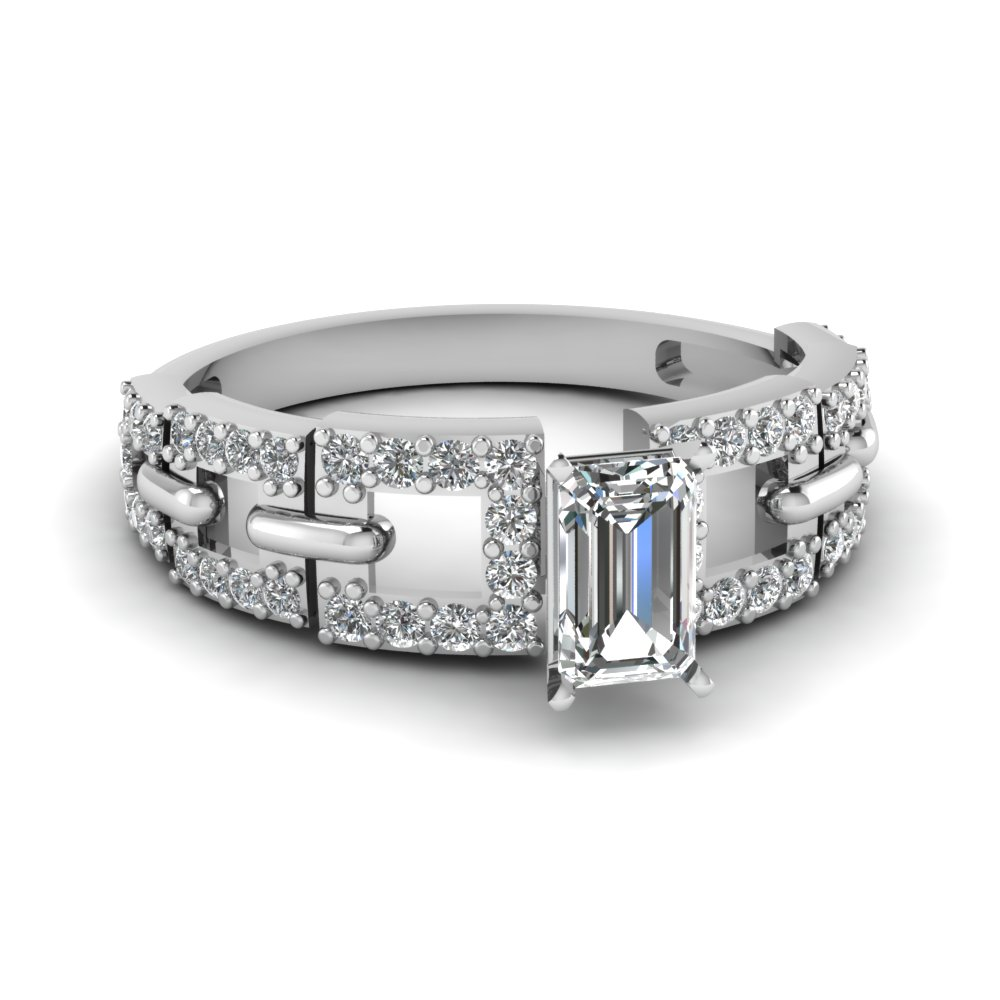 Emerald Cut One Karat Ring