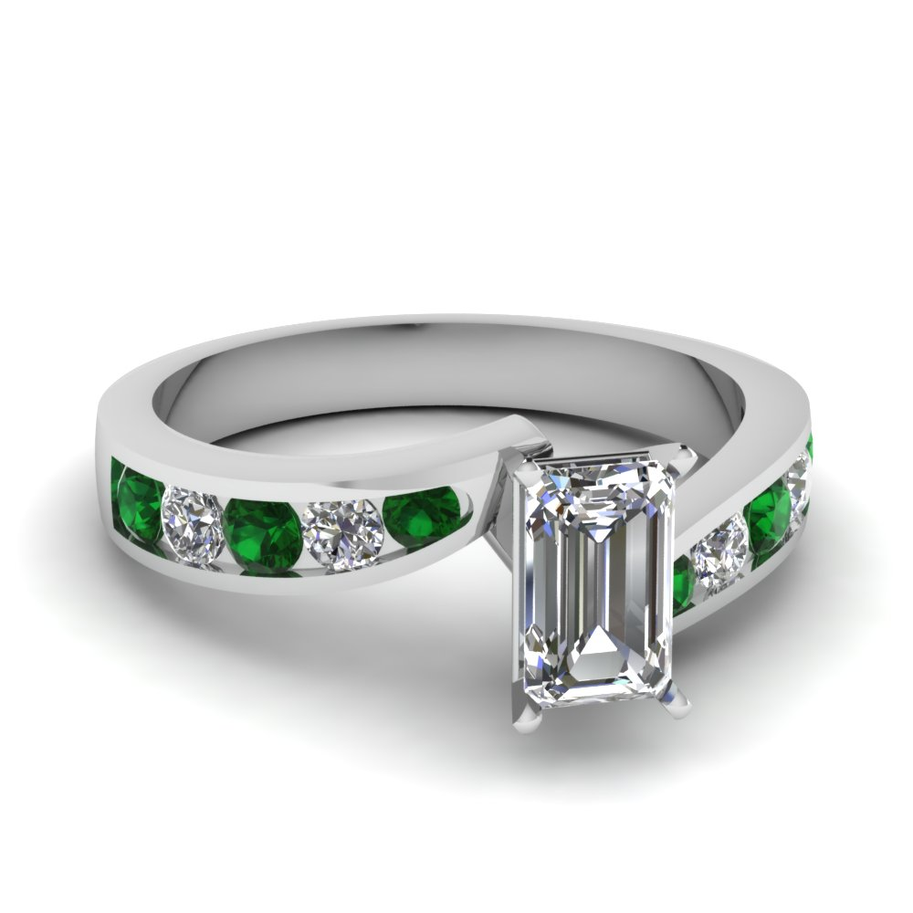 emerald cut swirl channel diamond engagement ring with emerald in FDENS4028EMRGEMGR NL WG.jpg