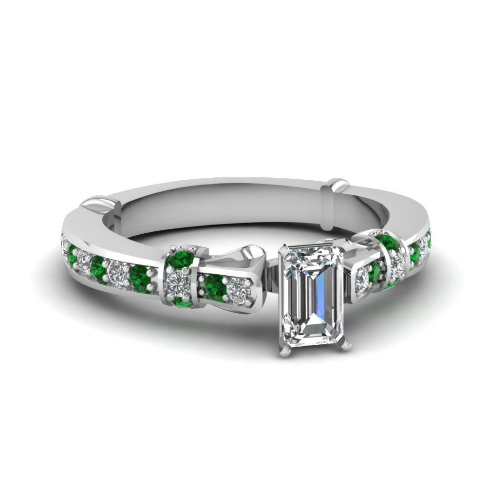 Emerald Cut Antique Emerald Ring