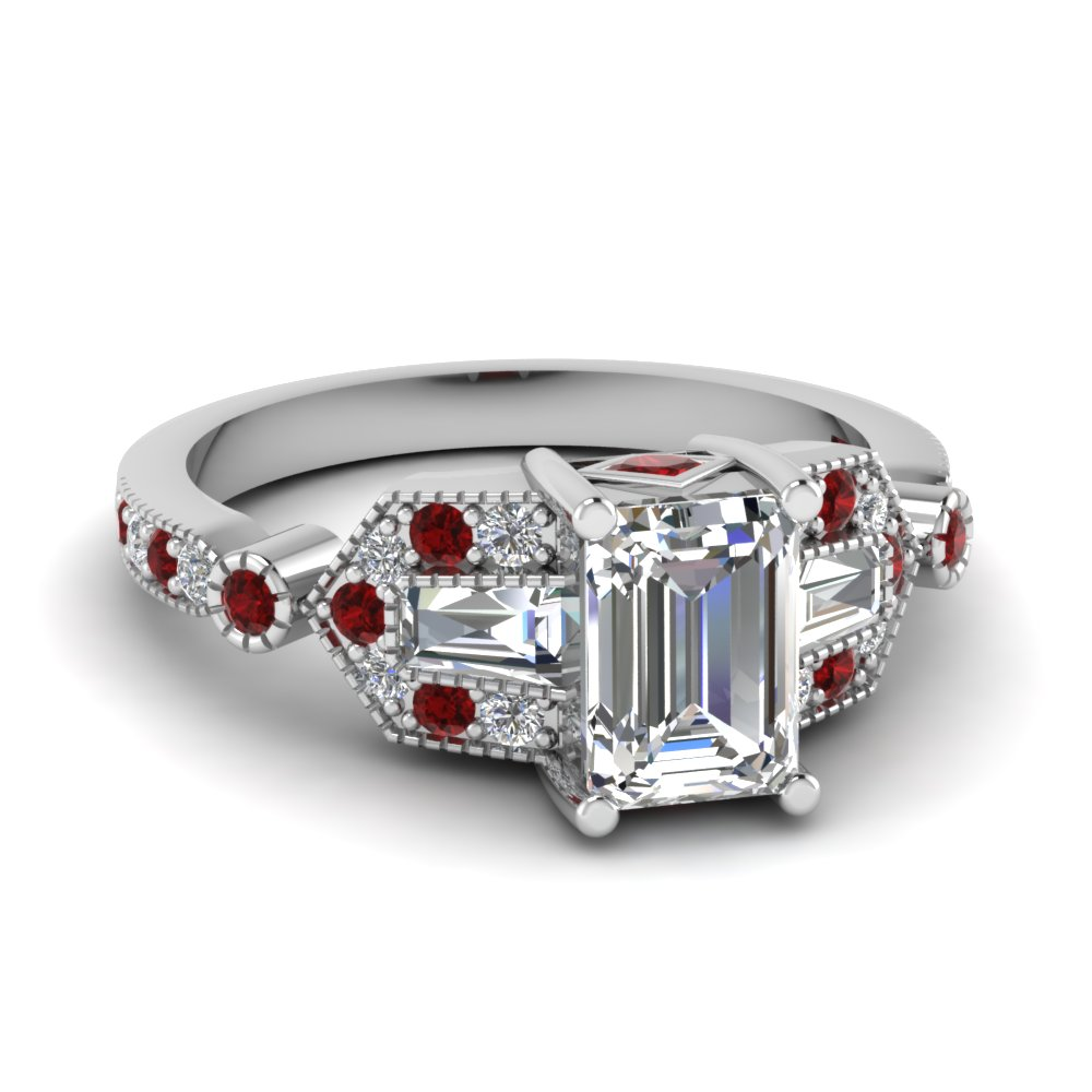 white-gold-emerald-white-diamond-engagement-wedding-ring-with-red-ruby-in-pave-bezel-set-FD1039EMRGRUDR-NL-WG