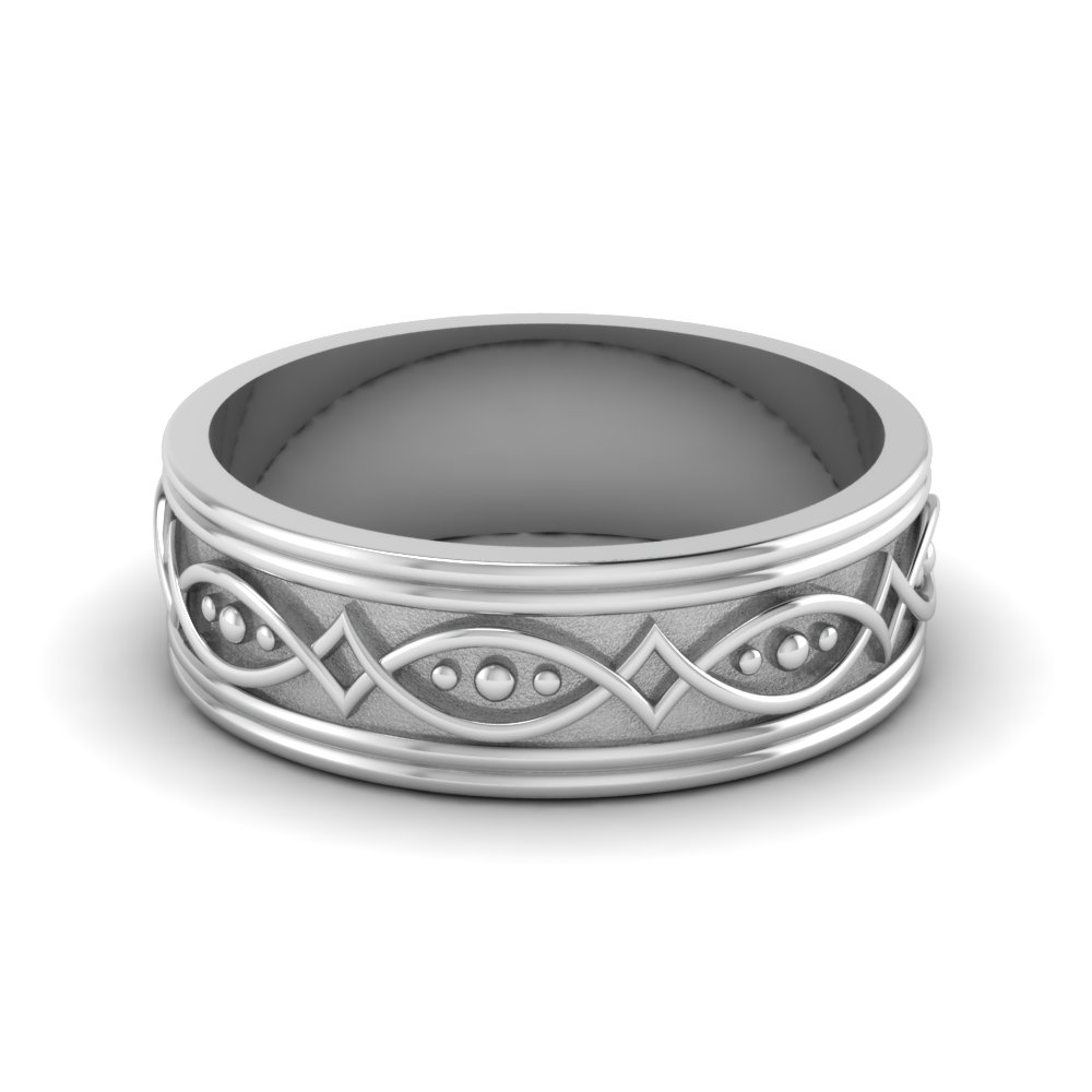 Silver Wedding Bands | Fascinating Diamonds