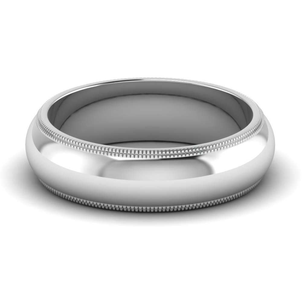 wedding band bands s light platinum men milgrain