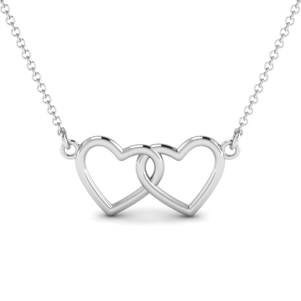 Dual Heart Pattern Necklace