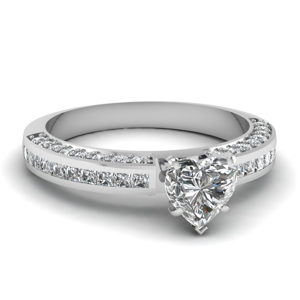 Double Shoulder Diamond Ring