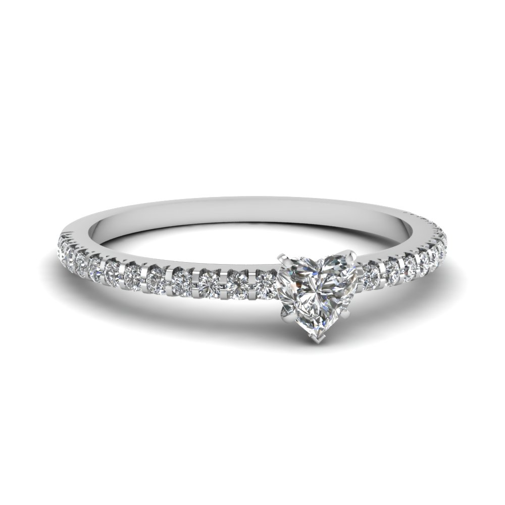 1/2 Karat Heart Cut Engagement Ring Styles