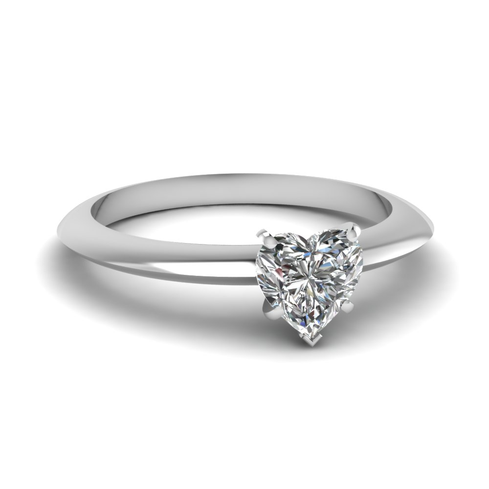 Heart Cut Solitaire Rings