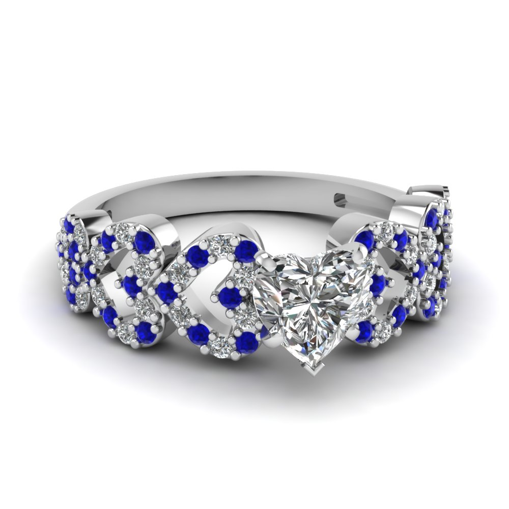 heart design diamond engagement ring with sapphire in FDENS3051HTRGSABL NL WG.jpg