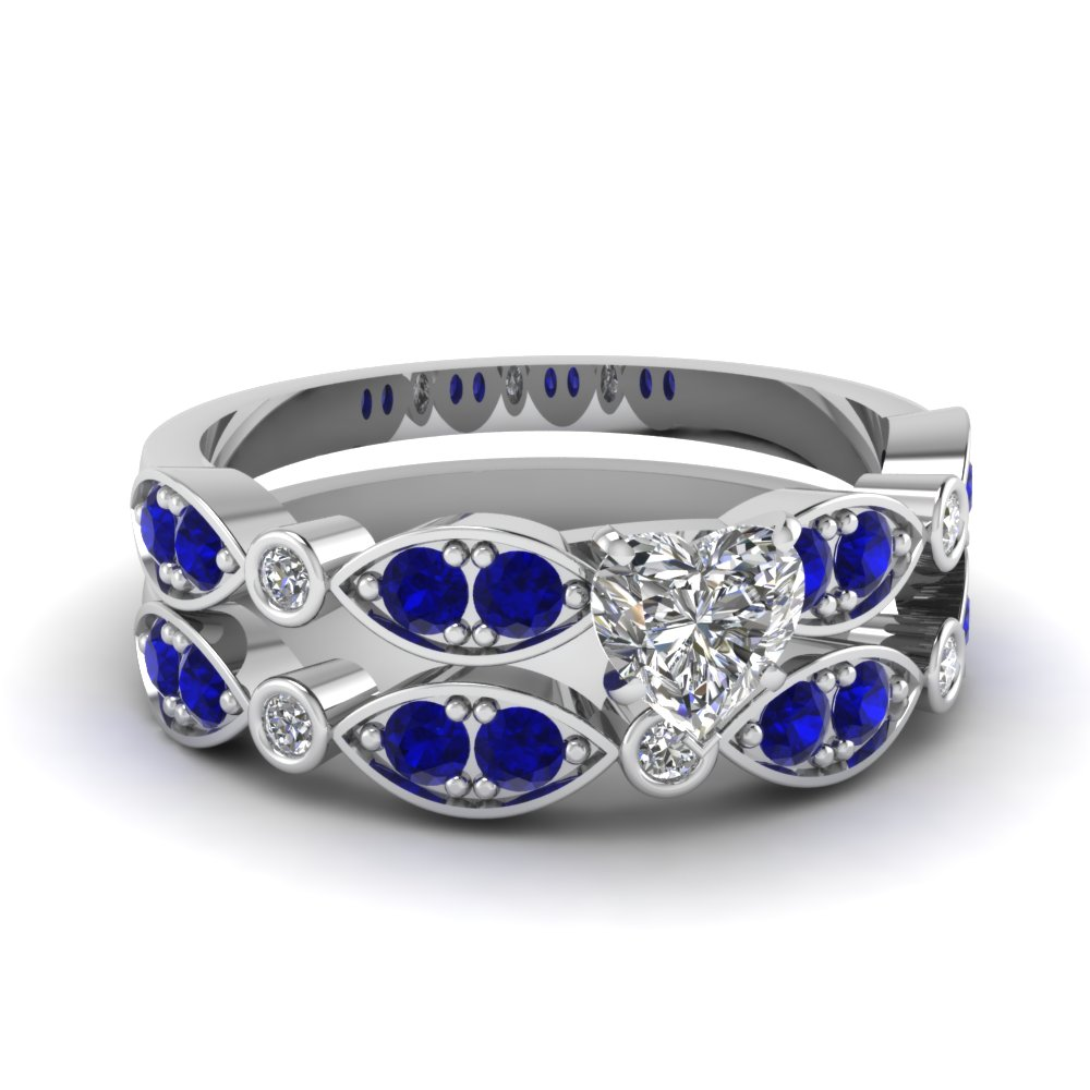 white-gold-heart-white-diamond-engagement-wedding-ring-with-blue-sapphire-in-pave-bezel-set-FDENS2035HTGSABL-NL-WG
