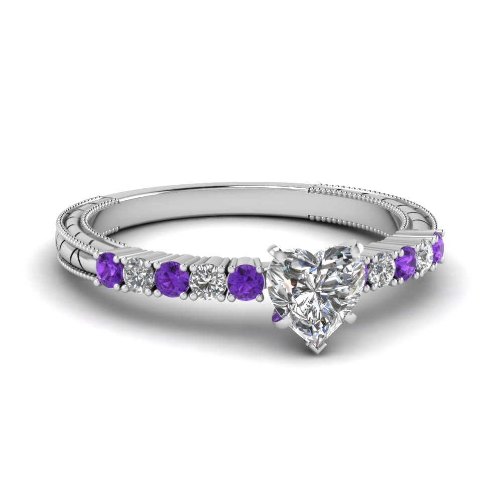 gold diamond rings white accent com w wedding walmart ring ip g carat purple amethyst and heart tanzanite t
