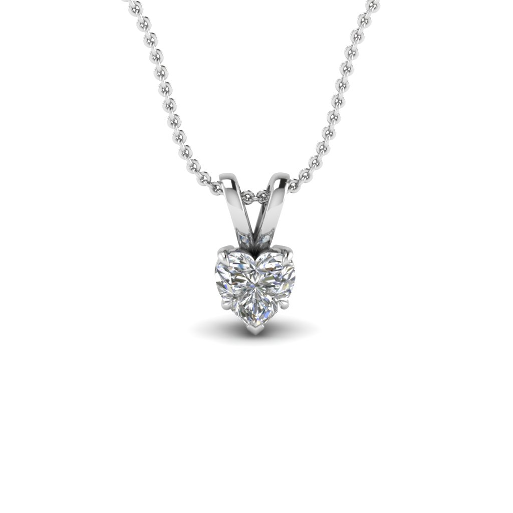 Get clearance pendants on special sale price fascinating diamonds clearance pendants with white diamond in 14k white gold aloadofball Gallery
