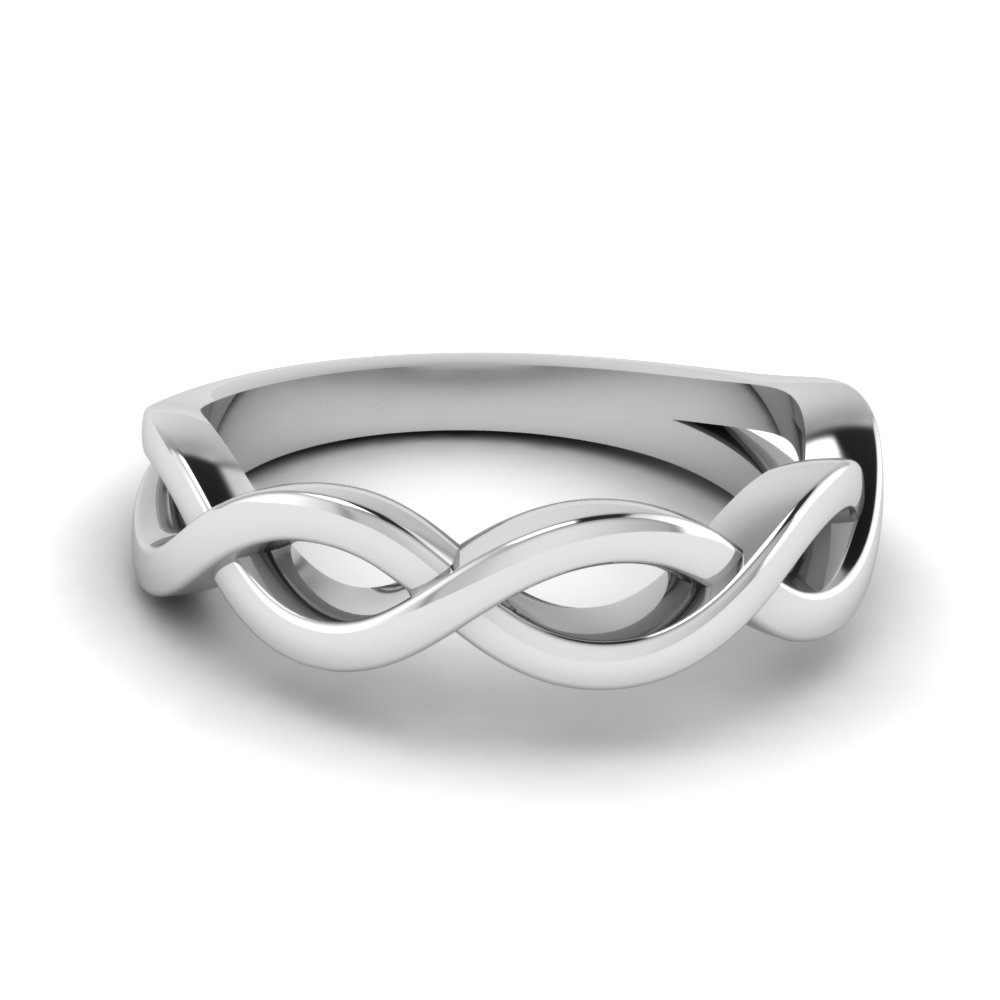 plain infinity wedding band in FD1080B NL WG