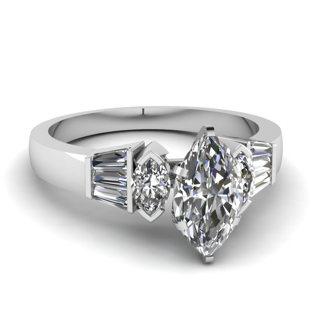 best and affordable marquise cut engagement rings - Marquise Wedding Rings