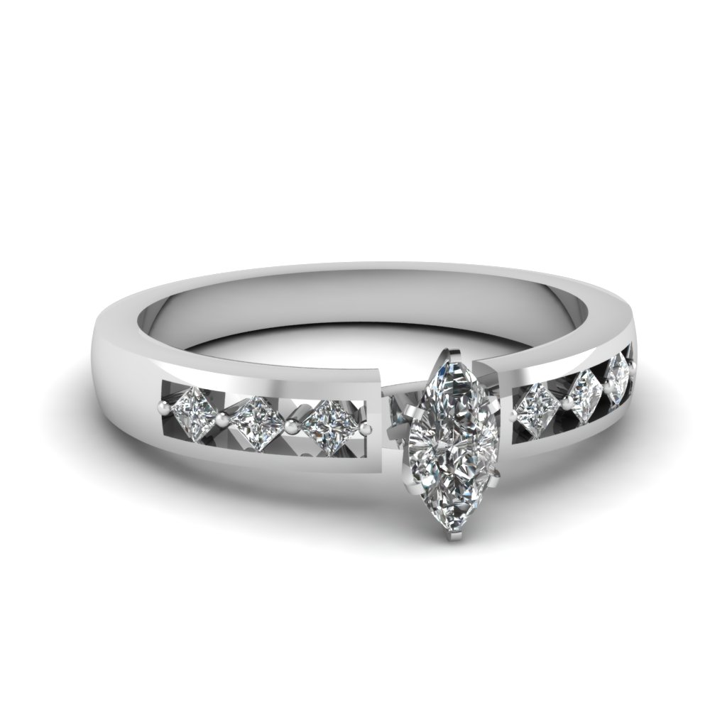 0.50 Carat Marquise Cut Womens Diamond Rings