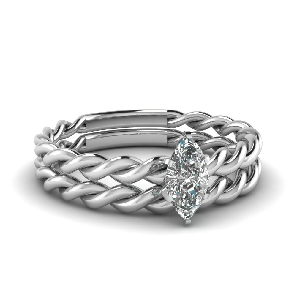 Twisted Rope Ring Set