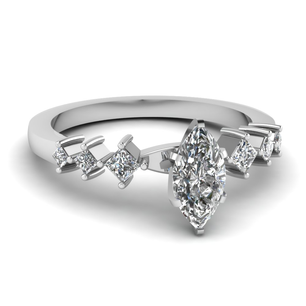 Modern Marquise Cut Diamond Engagement Ring