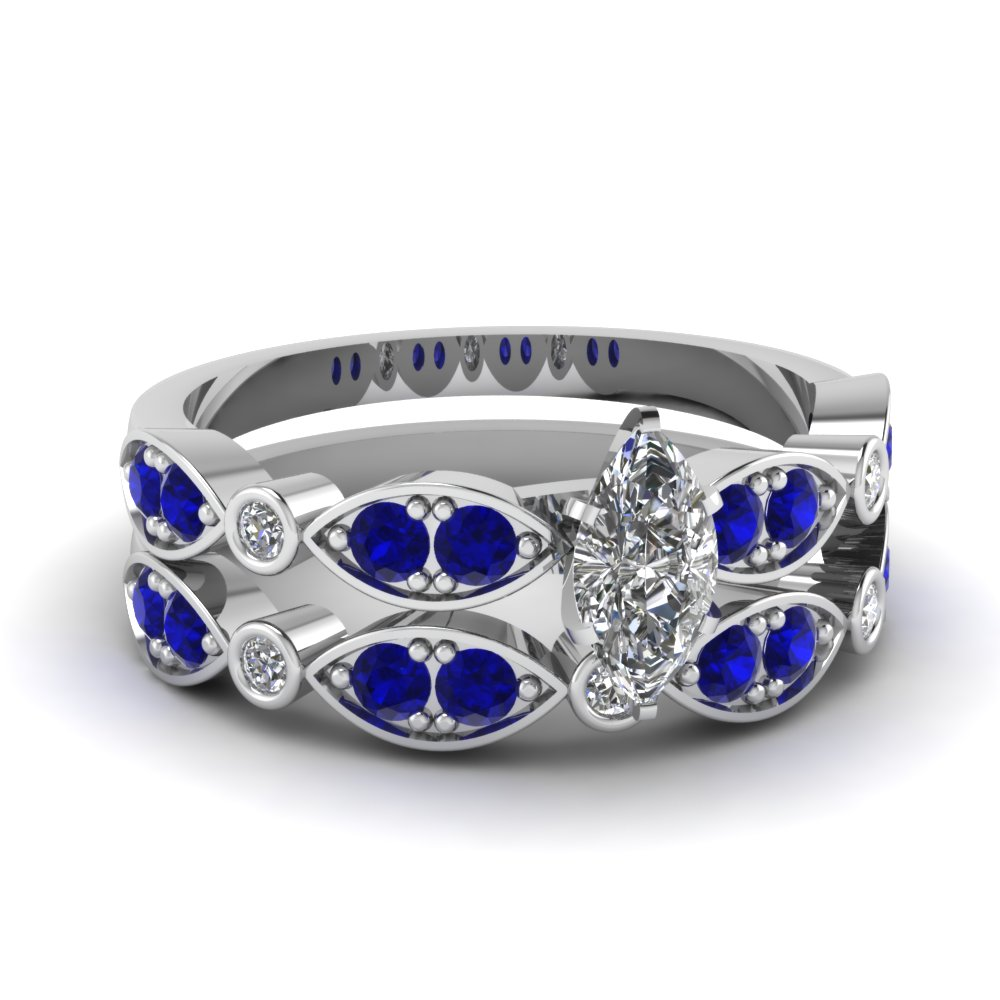 white-gold-marquise-white-diamond-engagement-wedding-ring-with-blue-sapphire-in-pave-bezel-set-FDENS2035MQGSABL-NL-WG